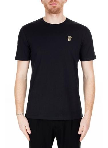 Versace Collection T Shirt Erkek T Shırt V800683R Vj00180 V9001 Siyah